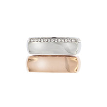 Load image into Gallery viewer, White & Pink Golden Rings set with 0.35 Carats of Diamonds