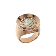 Load image into Gallery viewer, Pink Golden SUN RISE Ring set with Diamonds - Select your Favourite Gem
