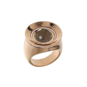 Pink Golden SUN RISE Ring set with Diamonds - Select your Favourite Gem