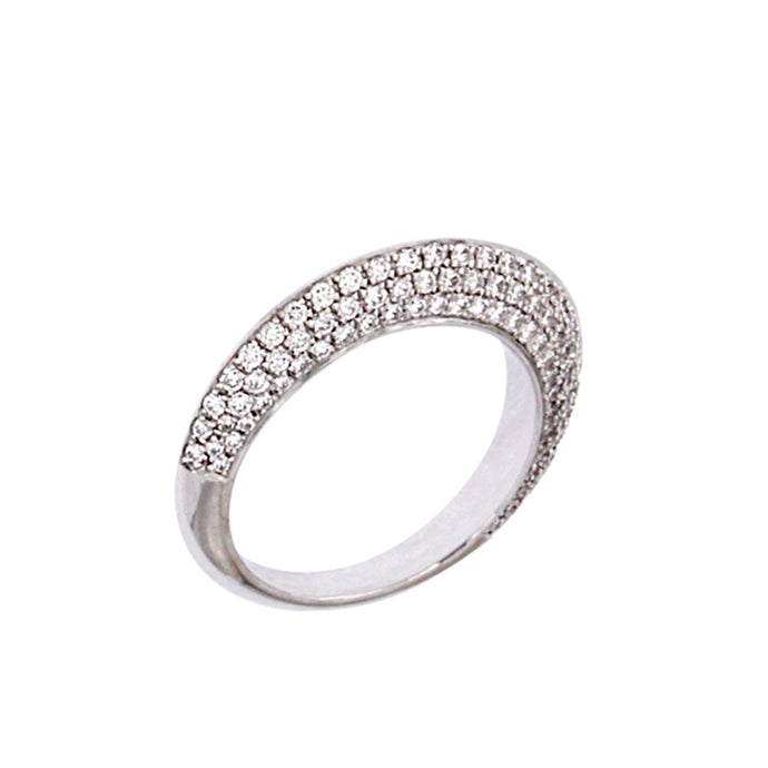 White Golden Ring set with 0.98 Carats of Diamonds