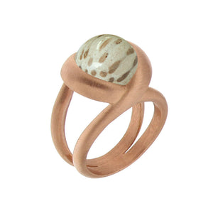 Pink Golden CALLA BLOSSOM Ring - Select your Favourite Gem