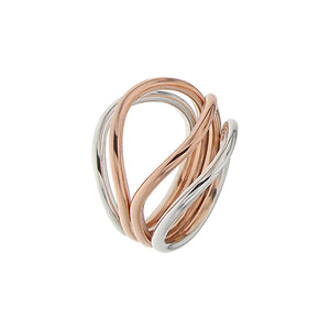 White and Pink Golden GRAND CASCADE Ring - Select your Favourite Gem