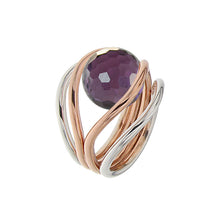 Load image into Gallery viewer, White and Pink Golden GRAND CASCADE Ring - Select your Favourite Gem