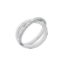 Load image into Gallery viewer, White Golden Ring set with 0.40 Carats of Diamonds