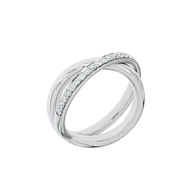 White Golden Ring set with 0.40 Carats of Diamonds