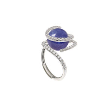 Load image into Gallery viewer, White Golden ROSE DEW Ring set with Diamonds - Select your Favourite Gem