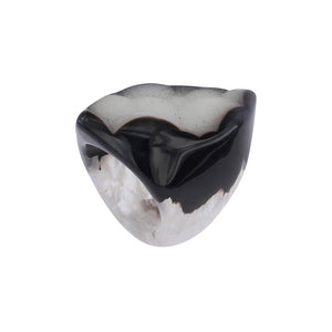 Completely Stone Crystallized Agate Ring