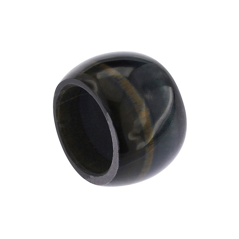 Completely Stone Falcon's Eye Ring