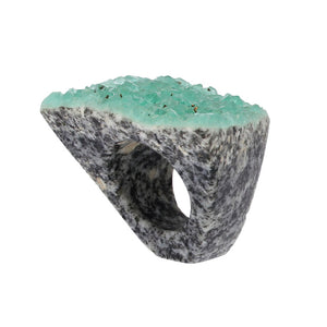 Completely Stone Fluorite Ring