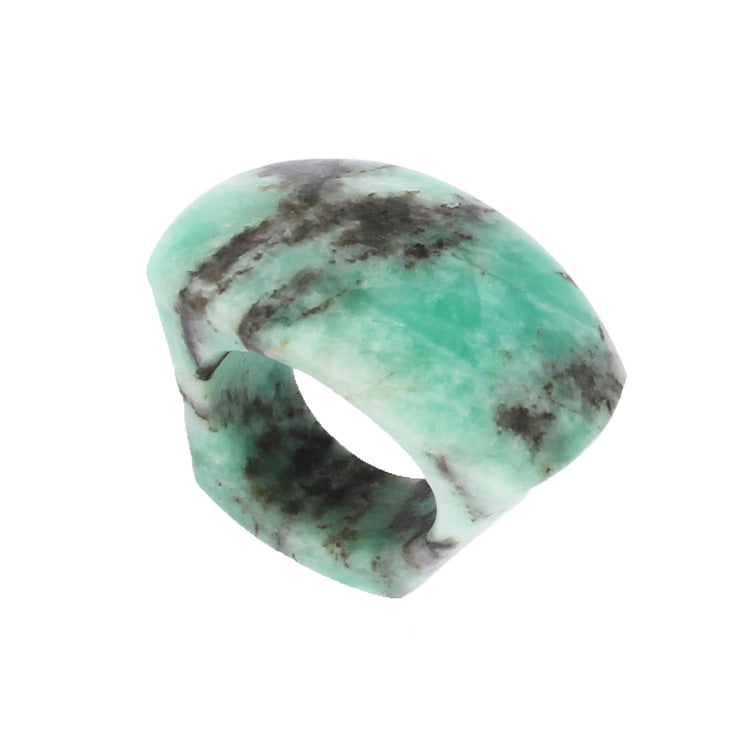 Completely Stone Emerald Ring