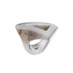 Completely Stone Dendritic Agate Ring