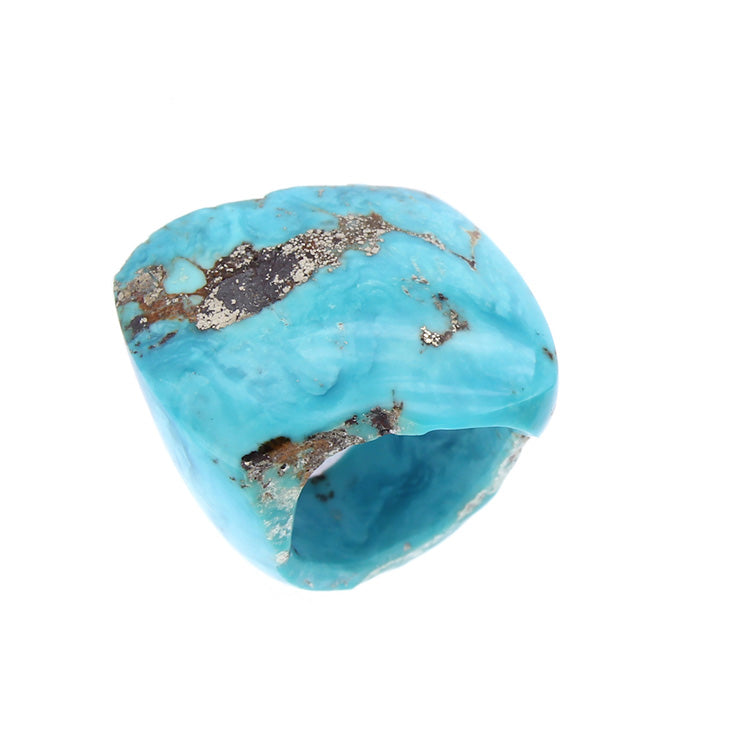 Completely Stone Turquoise Ring