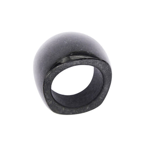Completely Stone Black Jade Ring