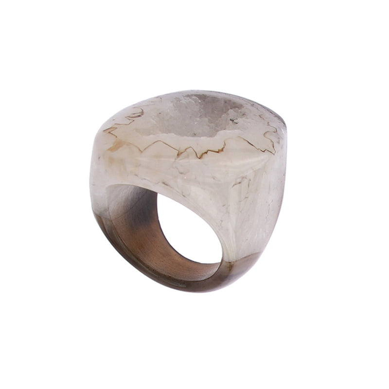 Completely Stone Agate Ring