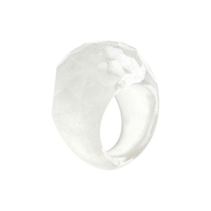 Completely Stone Rock Crystal Ring