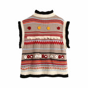 FLOWER-SHAPED KNITTED VEST