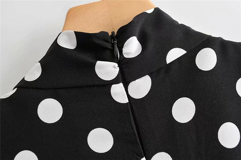 SHORT POLKA DOT JUMPSUIT