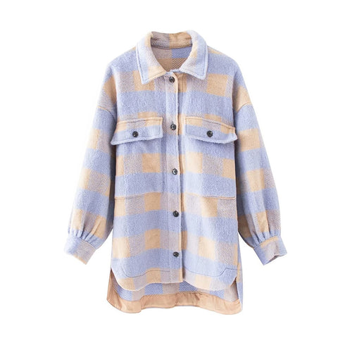 OVERSHIRT CHECKED WOOLEN JACKET