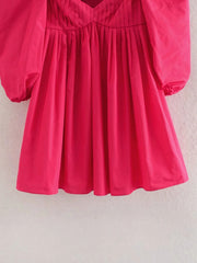 VOLUMINOUS TAFFETA DRESS