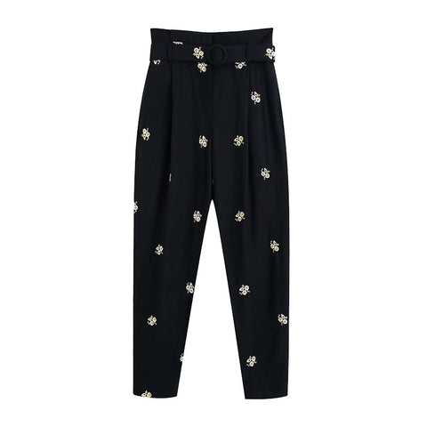 EMBROIDERED TROUSERS