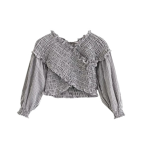 CROP TOP WITH SMOCKED DETAIL