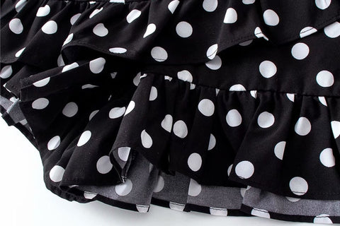 POLKA DOT SHORT-SKIRT