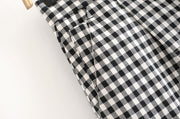 SLOUCHY GINGHAM TROUSERS