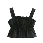 RUFFLED PLEATED TOP