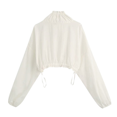 CROPPED JACKET HIGH COLLAR