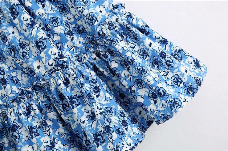 RUFFLED MINI FLORAL SKIRT