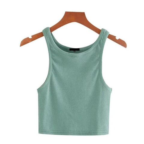 STRETCHY SLIM CROPPED TANK TOP