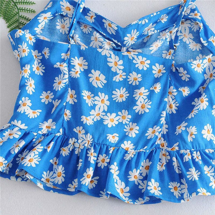 RUFFLED DAISY TOP