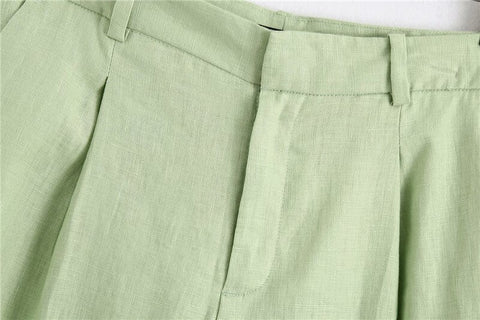 LINEN SHORTS TROUSERS