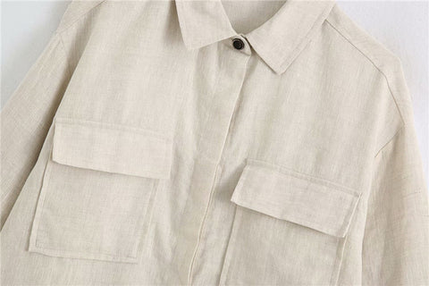 LOOSE LINEN OVERSHIRT