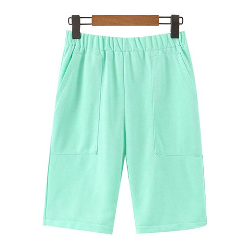 STRAIGHT SHORTS WITH ELASTIC WAIST