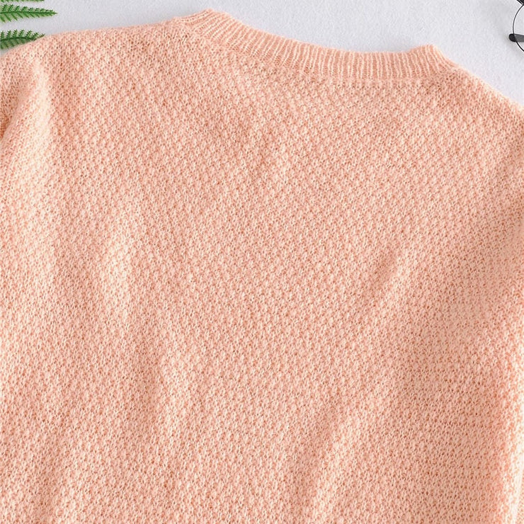 HOLLOW OUT LOOSE KNITTED SWEATER