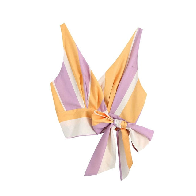 FASHION SIDE BOW TIED TOP