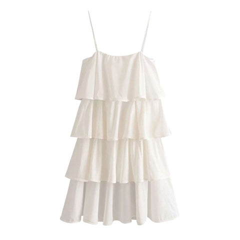 RUFFLE TRIM MINI DRESS