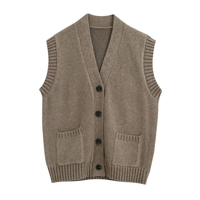 RIBBED WAISTCOAT WITH BUTTONS