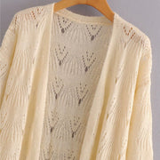 HOLLOW OUT KNITTED CARDIGAN