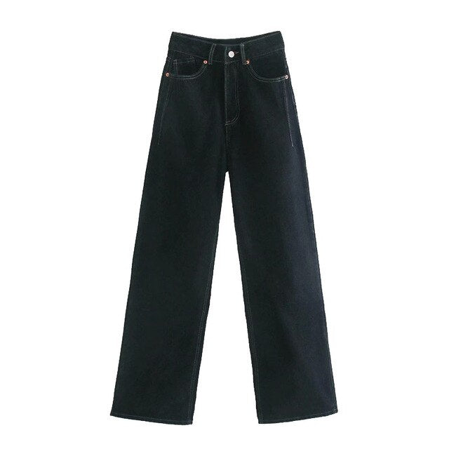 FADED WIDE LEG TROUSERS