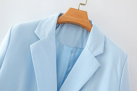 CYAN DOUBLE BREASTED BLAZER