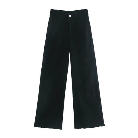 BLACK STRAIGHT TROUSERS