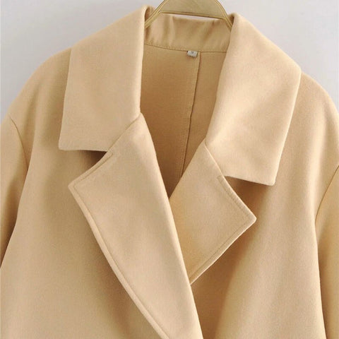 DOUBLE BREASTED WOOLEN OVERCOAT