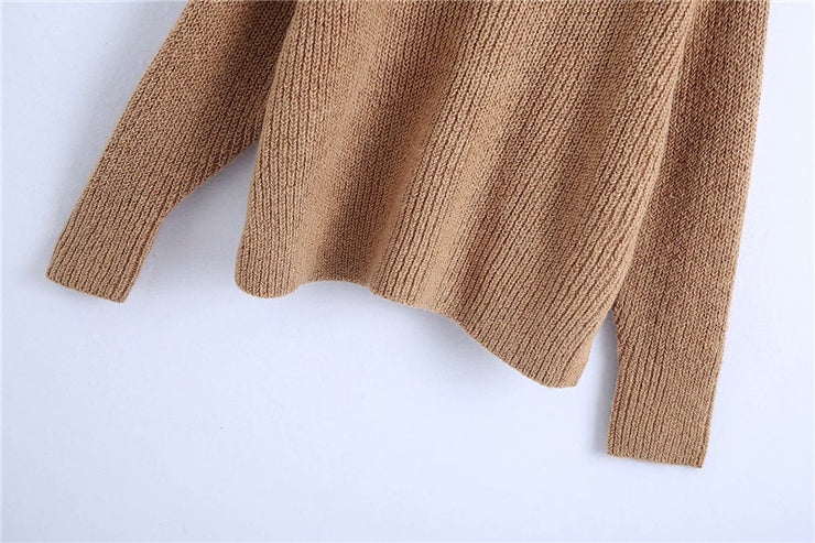 THICK LOOSE KNITTED SWEATER