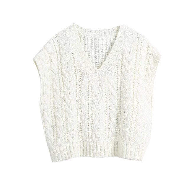 OVERSIZED KNITTED VEST