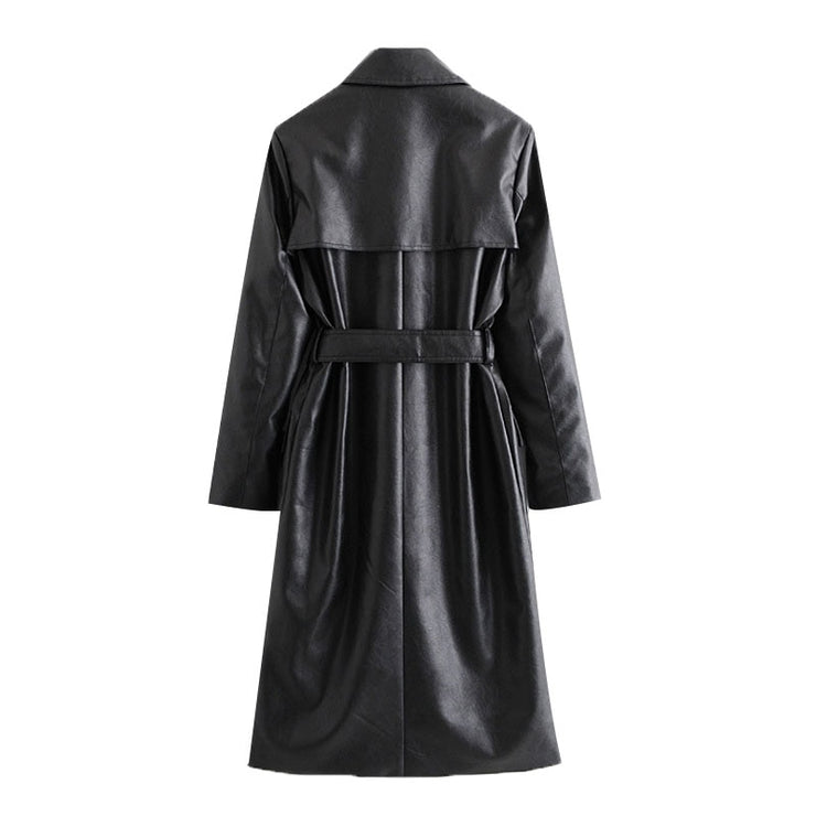 LIMITED EDITION VEGAN LEATHER TRENCH COAT