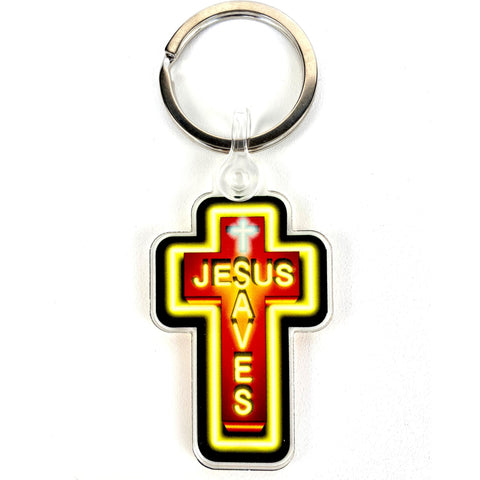 JESUS SAVES KEY CHAIN - LIGHT OF THE WORLD