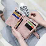 Load image into Gallery viewer, Small Leather Trifold Wallets For Women