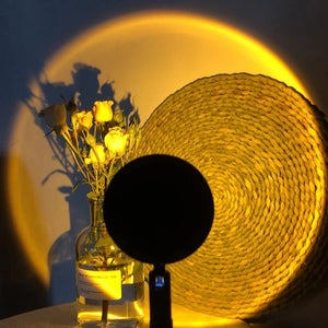 Sunset art decorative romantic projection lamp